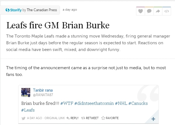 A screengrab from CP's first storify