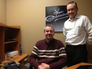 MySteinbach.ca co-founders Brad Kehler and Corwyn Friesen.