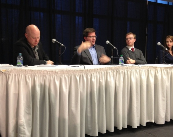 Moderator Andrew Potter, David Reevely, Nick Taylor-Vaisey and Joanna Smith.